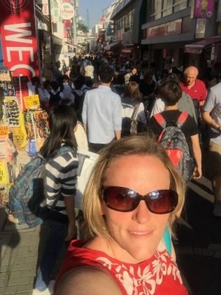The crowd on Takeshita-dori, the entrance to Harajuku.