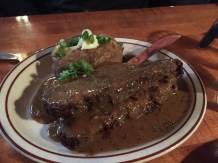 The 20 oz. pepper steak at the Double Musky Inn was epic.