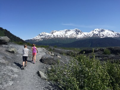 Hiking back from Exit Glacier.