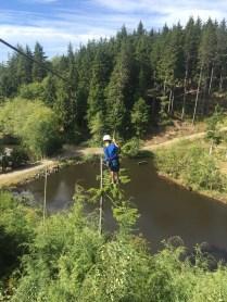 My son ziplining at Highlife Adventures
