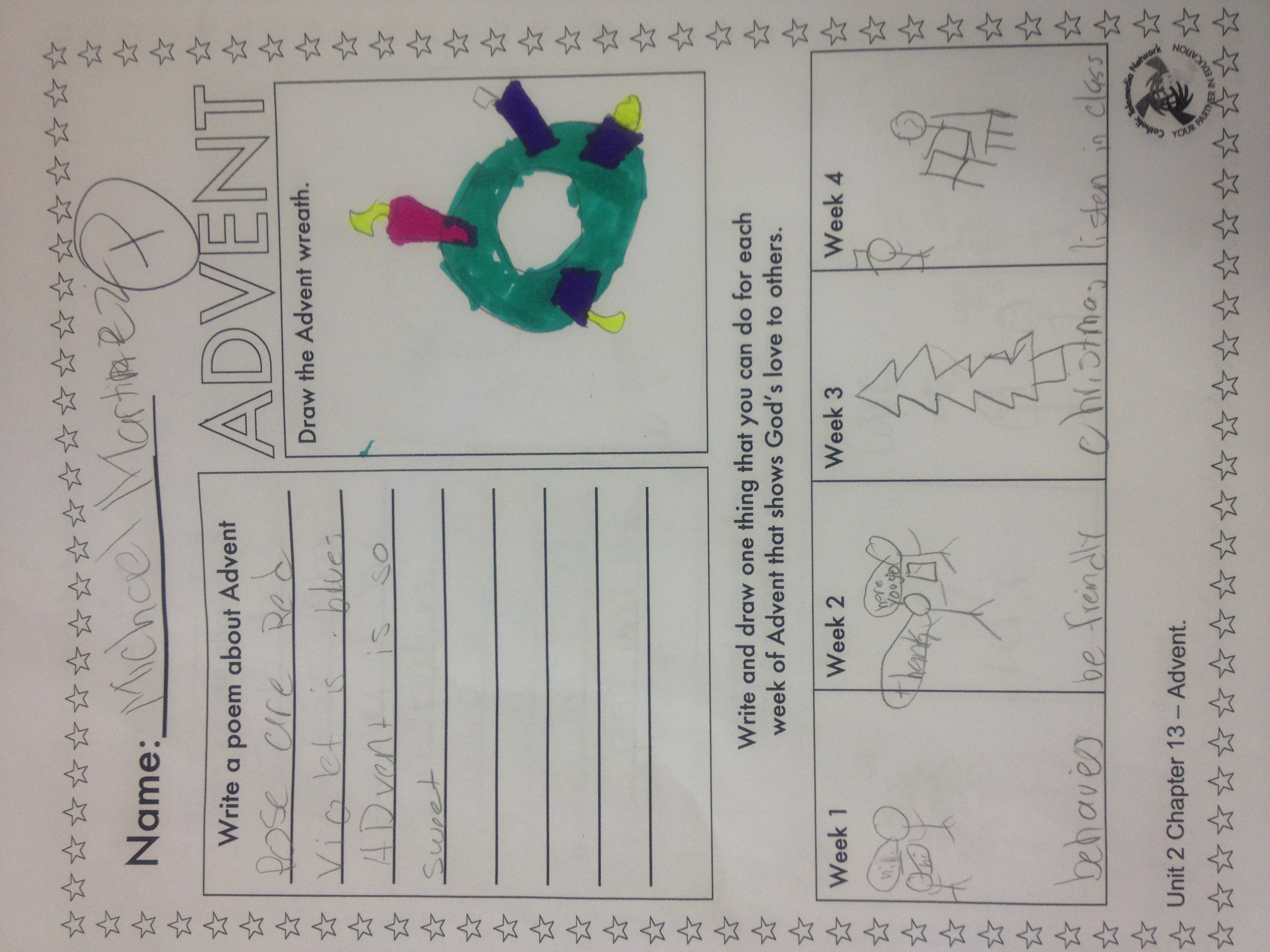 Advent Worksheet