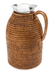Large Rattan Coffee and Tea Carafe