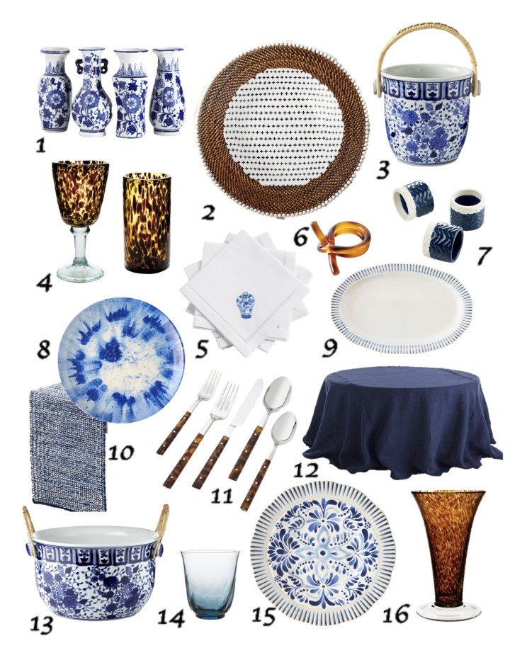Delegate the Decor – Tortoise Shell with Blue & White
