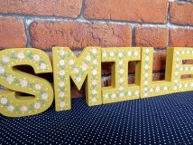 Hand-painted decorative letters