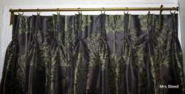 French pleats on Portiere rod