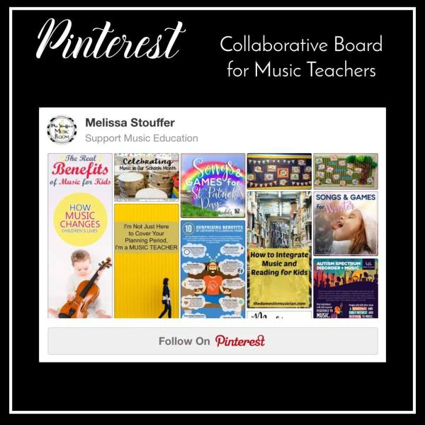Pinterest Collaborative Board for Music Teachers