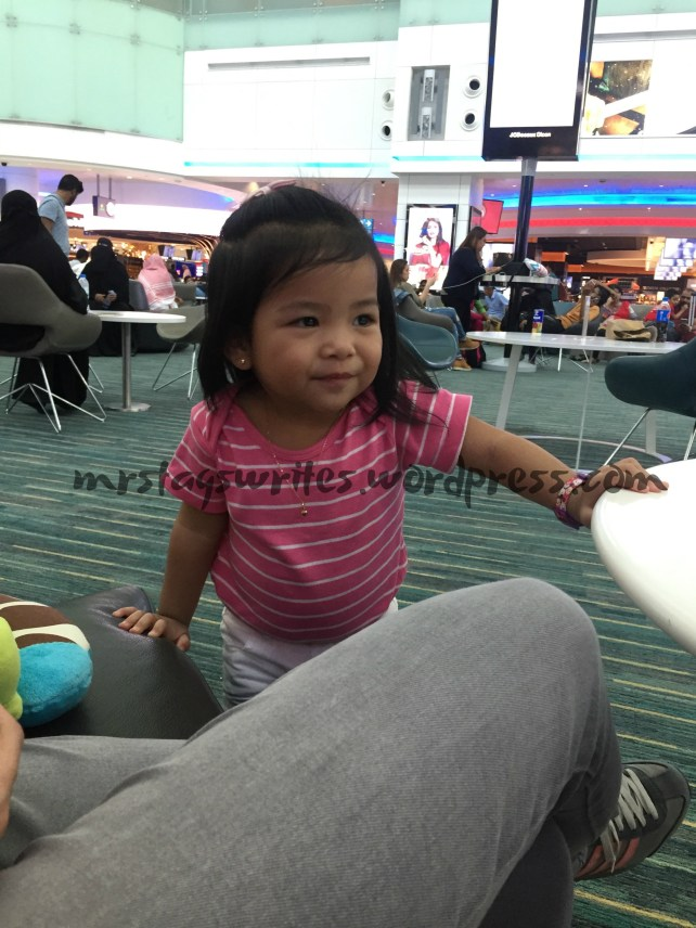 Ellie at DXB International Airport.