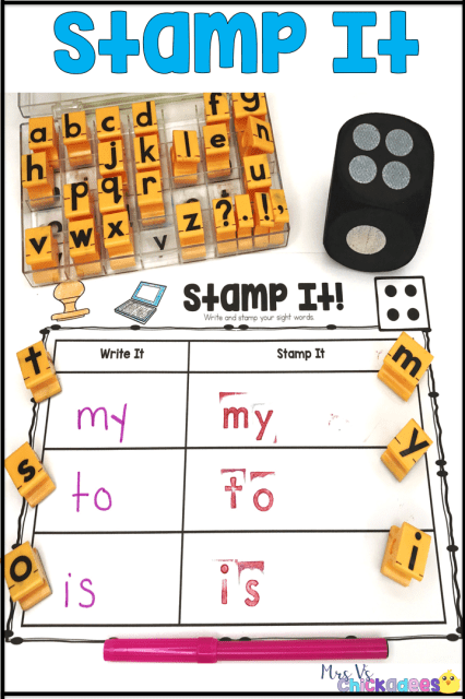 Fun and hands on differentiated sight word work for centers, small groups or whole class. Great for any sight word list, so it works across multiple grades: kindergarten, first grade, second grade and more!