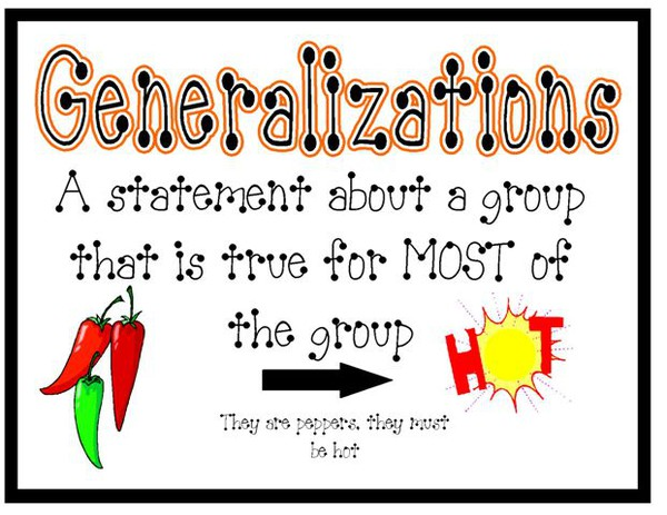 Image result for generalization