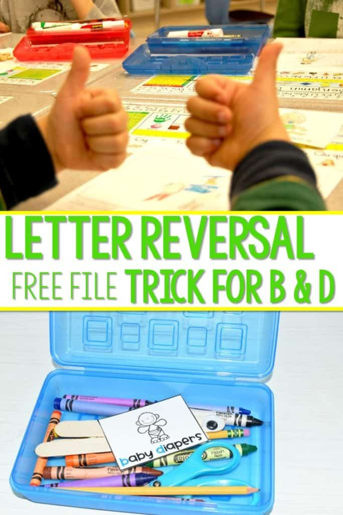 Letter reversal strategies for kindergarten. Although letter reversals are normal in kindergarten and first grade, here is a free tip to help remind your students during writing.