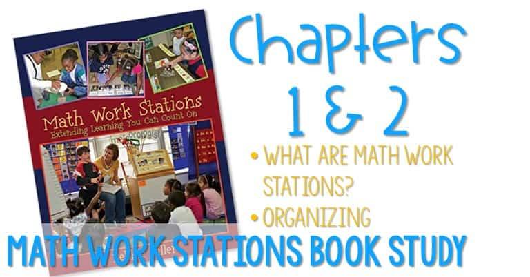 Math Work Stations Book Study Organization