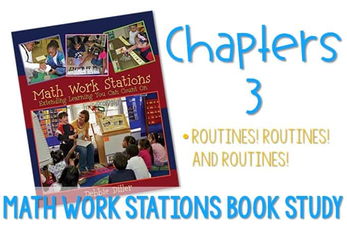 Math Work Stations Routines! Find ideas for creating routines for your math work station time. Anchor charts to help set expectations for kindergarten math center time.