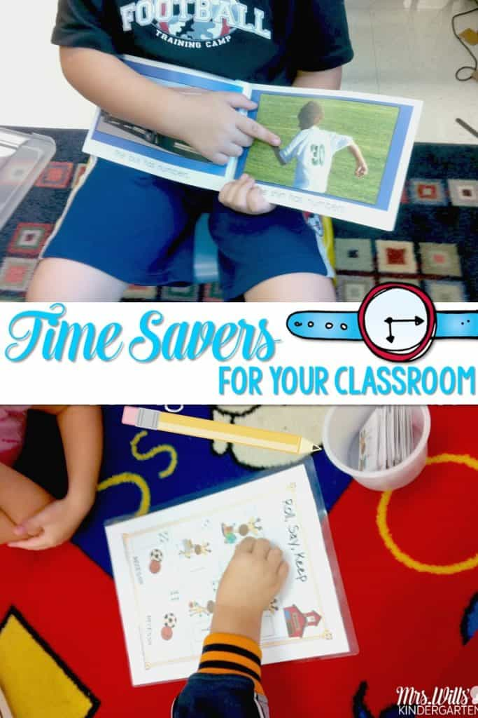 Not Enough Time?  Time Saving Tips to get the most out of your kindergarten math centers and literacy centers.