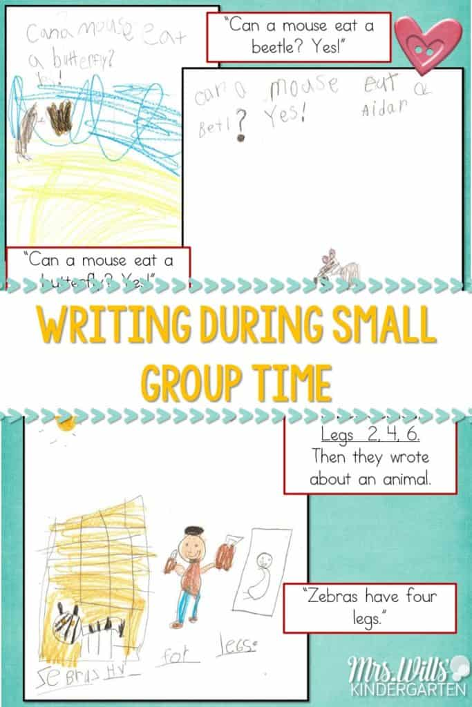 Writing During Guided Reading is a great way to guide emergent writers. See how I use guided writing in my small group to help my kindergarten students with their writing progress. #kindergartenwriting