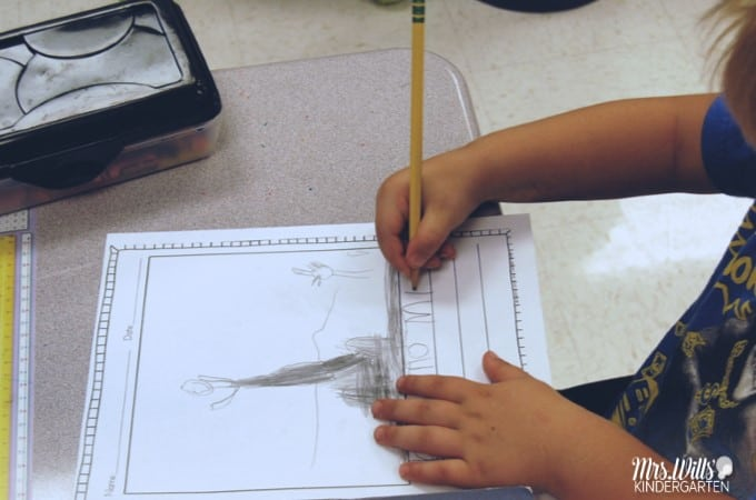 Kindergarten Writing Activities at the beginning of the year. Through shared writing and interactive writing, students learn the structure of writers workshop. Take a look at how we shared the pen in my classroom!