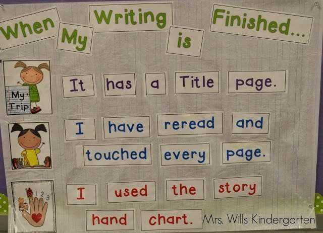 After just a few months of writers workshop you can see how far my kindergarteners have come. This post will explain conferring in writers workshop and give you tips to make it go smoothly!