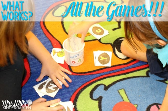 Games can put the brain in a positive state, lessen stress, and memory for content is increased. Check out these printable kindergarten educational games! ABC, CVC, and sight words too!