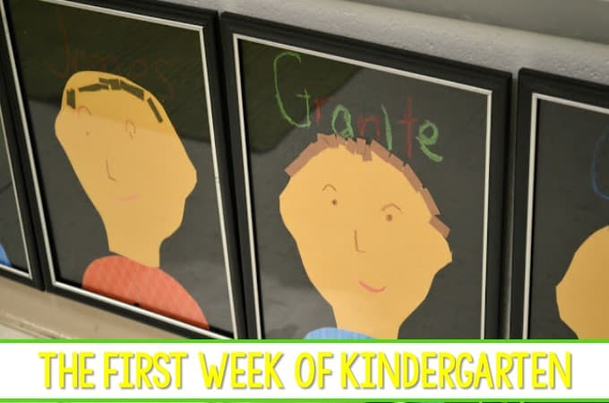 Kindergarten First Week of School Activities are featured in this blog post. Name activities and lesson plans for back to school!