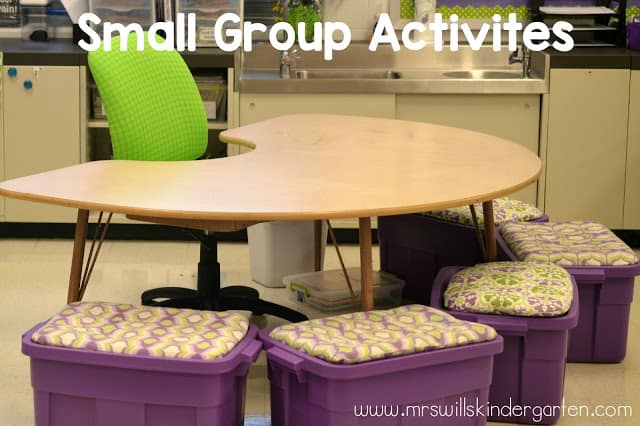 How to do Small Group Activities and Instruction in Kindergarten, what they look like, word work and warm up, and more! You and your students will look forward to their small group rotation time.