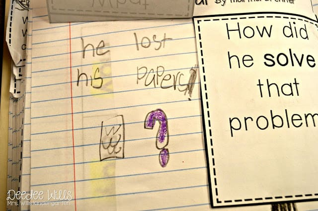 Identifying problem and solution in kindergarten.