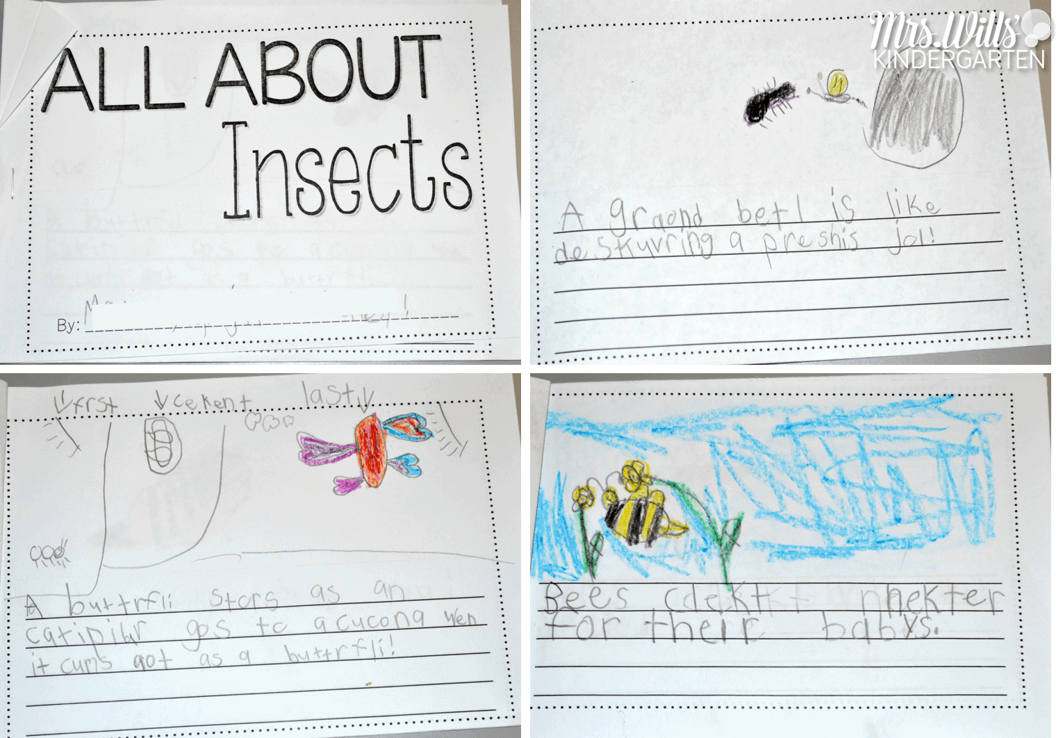 Insects Preschool Writing Worksheets Insects Best Free Printable Worksheets