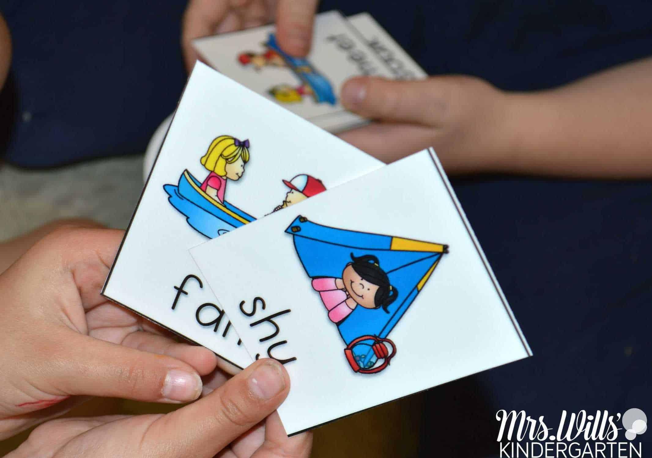 Vowel Team Phonics Game Cards