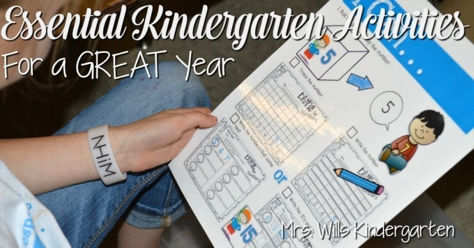 Essential Kindergarten Activities for a GREAT year! I want to show you how to get your students independent while practicing essential kindergarten skills.