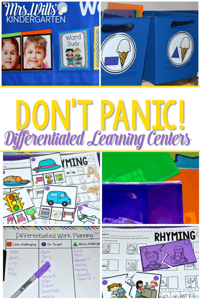 Differentiated Learning Centers! Don't panic! I have come up with ways to offer differentiation for your kindergarten learning activities. Rhyming is the first phonemic awareness activity we will make.