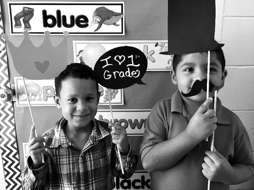 first grade photo booth