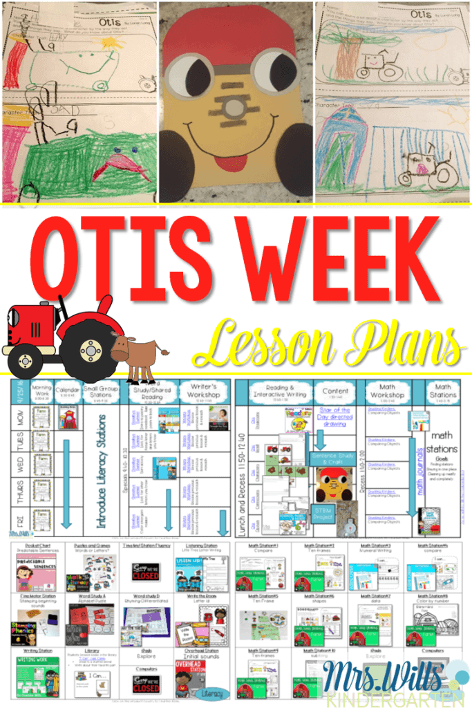 Otis lesson plans for your kindergarten or first-grade classroom are here! A week of math, literacy, writing, science, and crafts to celebrate the book Otis by Loren Long.
