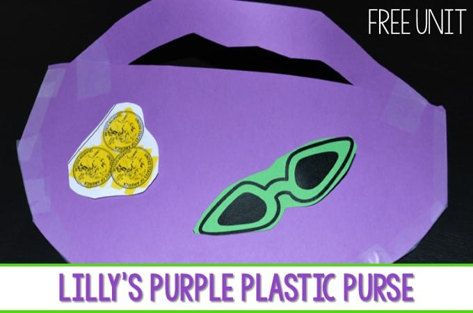 Lilly's Purple Plastic Purse lesson plans ideas for kindergarten and first grade. Students respond to the book during reading and interactive writing. Predicting, character analysis and more! Fun week of activities for your Kevin Henkes author study!
