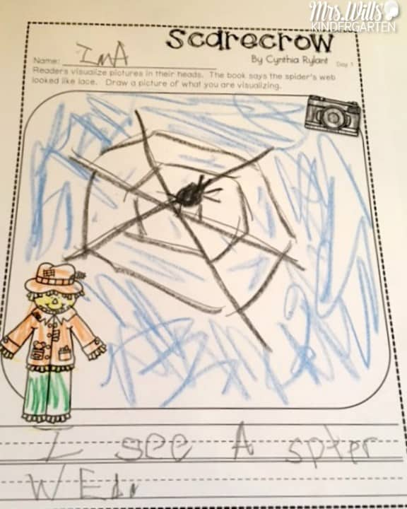 Scarecrow Lesson Plans are here! These kindergarten lesson plans include math, reading, writing, crafts, and more! Come by to s see what I have gathered for your students. Fun and engaging with meaningful activities.