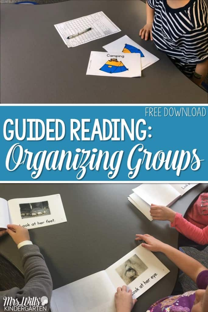 Organizing Guided Reading Groups in Kindergarten. This post will show you how I organize small group activities and binders. Includes assessments, running records, management, and ideas. Track your students success with lesson plans that are differentiated to meet their needs.