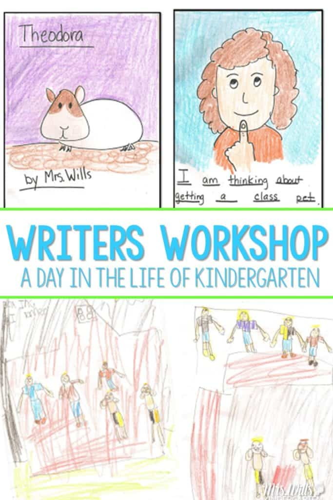 Writers Workshop in Kindergarten! What does a day of writers workshop look like? Here is the anatomy of my lessons with a bit of conferring.
