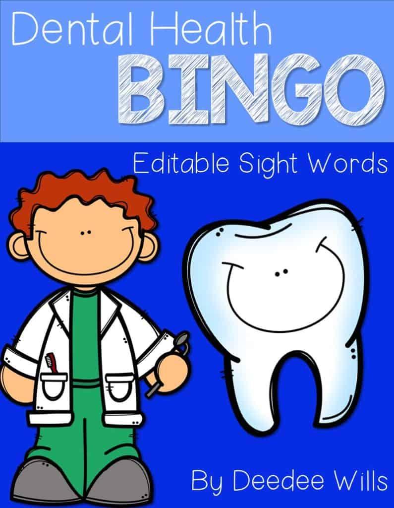 Dental Health FREE Sight Word Bingo