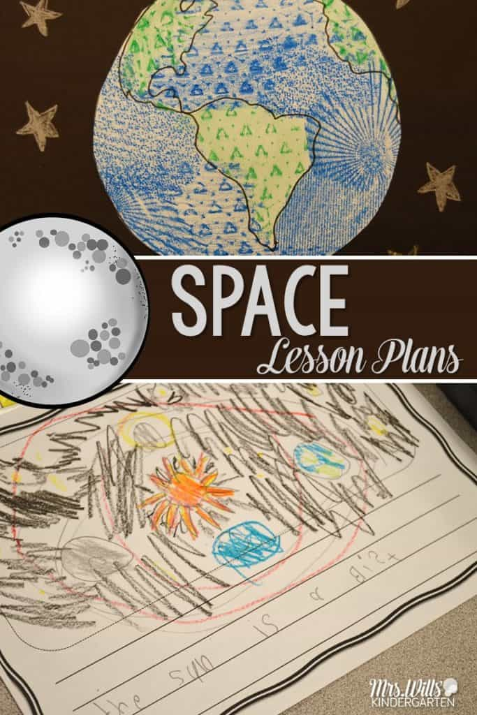 Space Lesson Plans for kindergarten. Math lessons, poetry, reading, and more are all included.