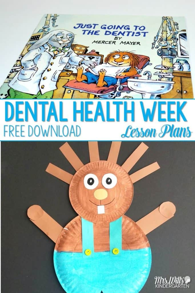 Dental Health Week Lesson Plans for Kindergarten! Close reading of Just Going to the Dentist by Mercer Mayer activities for a fun week of learning. Students work on making connections and inferring. Also a fun poem and adorable Dental Health craft!