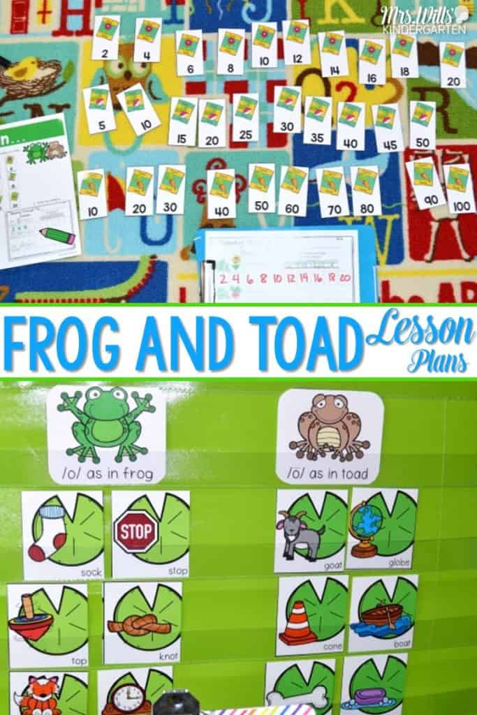 Frog and Toad Lesson Plans! My kindergarten class loves Frog and Toad! Check out our reading comprehension work plus math and literacy centers.