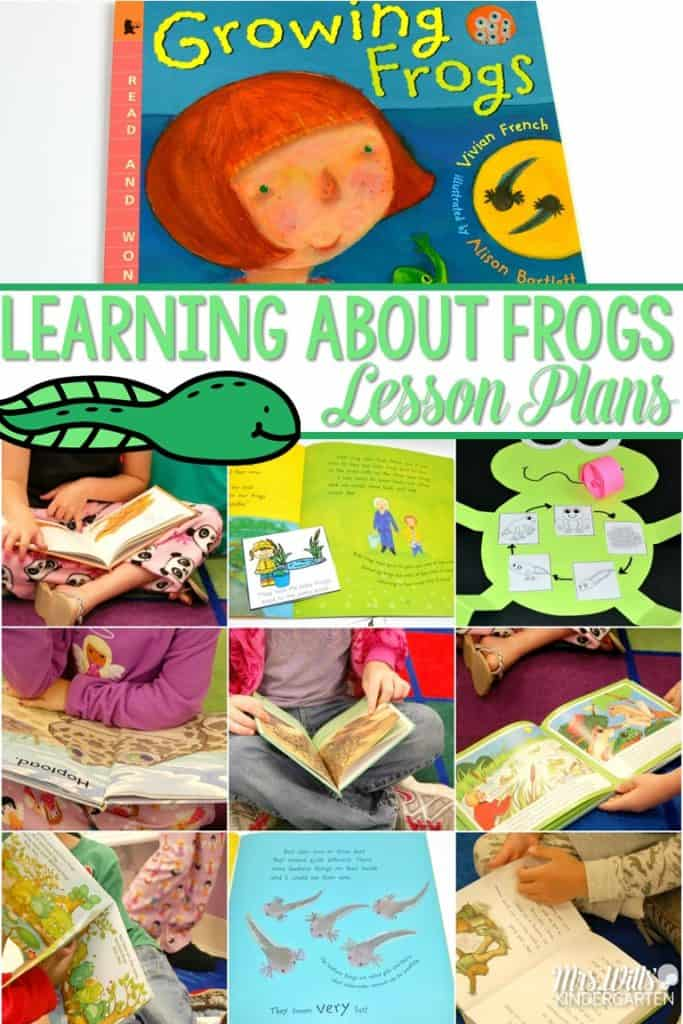 Frog Lesson Plans! Learning about frogs in kindergarten is such a fun activity for the classroom. Reading comprehension, writing, poems, a craft, and more!