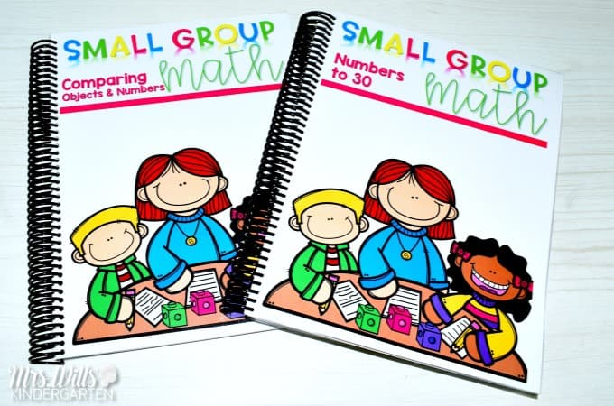 Comparing Numbers in whole group math, small group math, math journals, and math stations. This post will include ideas on how to schedule math instruction throughout the day. FREE planning guide included.