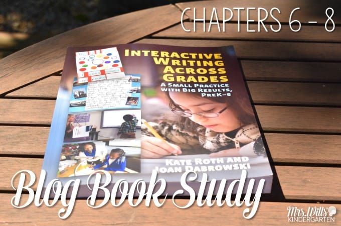 Interactive Writing Book Study Ch 6 - 8! Let's look at the book Interactive Writing Across the Grades as part of our blog book study. These chapters focus on writing conventions and sharing the pen.