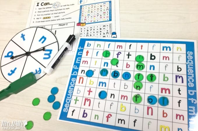 Independent Kindergarten Center Games can be easy! Let me show you how with this FREE file! Math and literacy activities that foster learning and student independence! Letters, sounds, number sense, shapes and more!