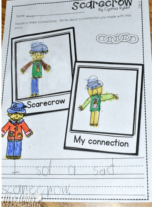 Kindergarten Mentor Texts to teach reading and writing with Cynthia Rylant's Scarecrow book. Great for writers workshop and reading workshop. Free mentor text list included!