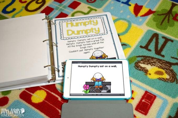 Nursery Rhyme Lesson Plans for Kindergarten