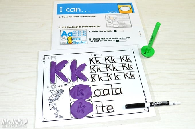 Kindergarten Lesson Plans Week 4 featuring ideas for Lilly's Purple Plastic Purse reading, writing, math, and center activities too. Download the free editable lesson plan template.