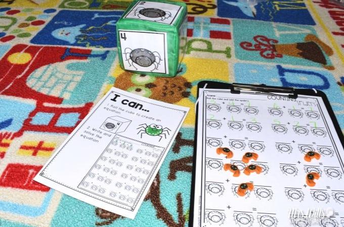 FREE Spider Math Center for Kindergarten