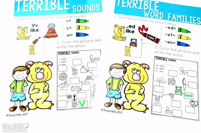 Leonardo the Terrible Monster Lesson Plans for kindergarten and first-grade. Here are lesson plans and anchor charts for Leonardo the Terrible Monster. A cute craft and other classroom activities too!