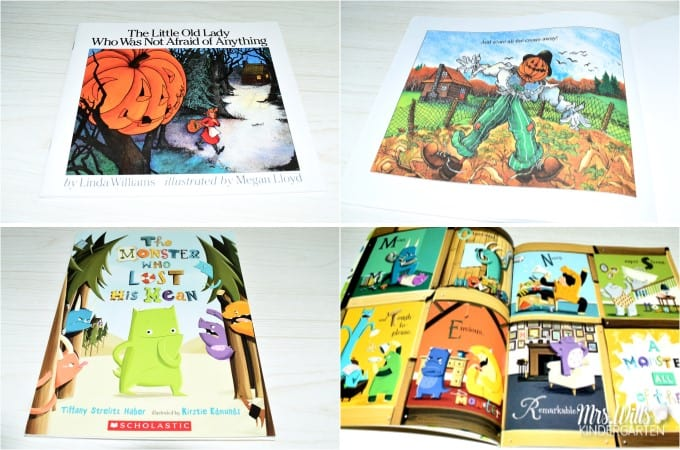 Halloween Books for Kindergarten. These 22 books are great for kindergarten or first-grade. Your students will love this Halloween picture books and a free reading response file is also available. #Halloweenbooks #Halloweenkindergarten #Halloweenlessonideas
