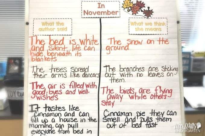In November Read Aloud Lesson Ideas In Kindergarten This