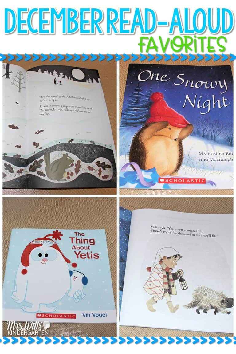 December read aloud books for your kindergarten and first-grade classroom!  Great for winter!